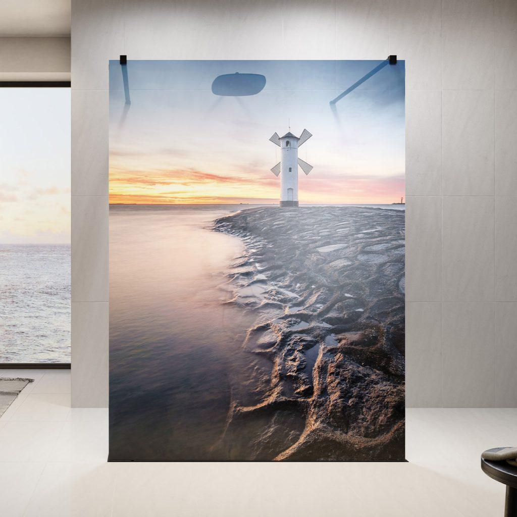 grawer - PUK Duschkabinen Digitaldruck Sunset